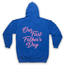 OUR FIRST FATHER'S DAY BABY DAUGHTER COOL CUTE GIFT ADULTS KIDS HOODIE