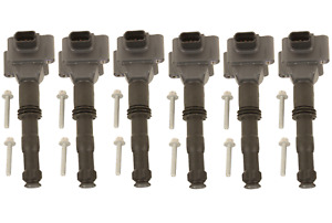 Set of 6 Ignition Coils with Plug Connectors OEM for PORSCHE BOXSTER 986 (97-04)