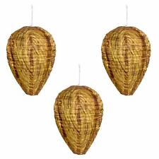 Wasp Nest Decoy - Natural Wasp Repellent - Waterproof Material - 3 PACK