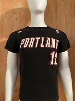 ADIDAS PORTLAND 12 NBA Graphic Print Men's T-Shirt Tee Shirt S Small SM Black