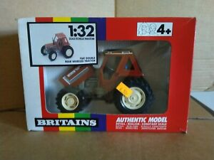 Britains 9506 Fiat DT 90-90 Double Rear Wheeled Tractor. 1/32. c1991/92. VGC.