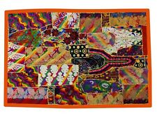 """Vintage Handmade Wall Hanging Embroidered Bohemian Patchwork Tapestry 60""""L LT56"""
