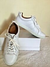 WHISTLES WHITE KOKI  LACE UP LEATHER TRAINERS SIZE 7/40 COST £120