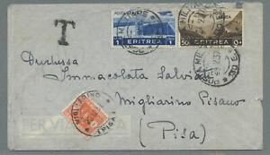 Italien Eritrea Bf 1937 Addis Abeba Posta Militare 130 > Migliarino Pisano Porto