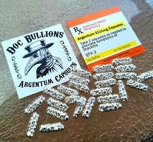 Doc Bullions Argentum Capsules - .999 Fine Silver - Qty 2 Pack