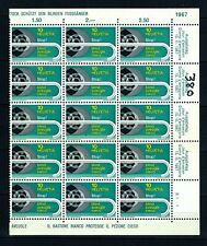 Switzerland Stamps 1967 | Stop! Blind! | MNH | sheet 15 stamps