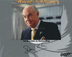 David Calder HAND SIGNED 8x10 Photo, Autograph, James Bond World Is Not Enough B