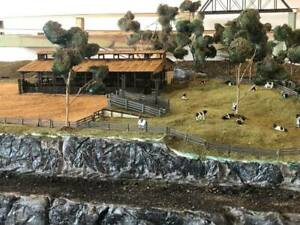 Ho Scale cattle Auction sale yards laser cut timber kit