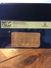 MD-53 Mar 1,1770 $1/2  Maryland Colonial Currency   PCGS Good 6