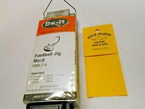 3055 DO-IT FOOTBALL JIG MOLD 1/16, 1/8, 1/4, 3/8, 1/2, 3/4, 1 oz