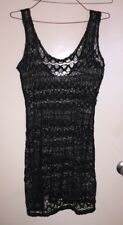 Womens Stretch Mesh With Gold Metallic Thread Top Size XL 10 - 16