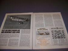 VINTAGE..FLEET AIR ARM CAMOUFLAGE 1935-40...HISTORY/DETAILS..RARE! (574P)
