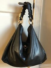 Authentic Gucci Leather Ruffle Hobo Style Handbag