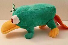 "Disney Store Plush Phineas & Ferb Toy Perry Bean Bag Platypus Stuffed Animal 8"""