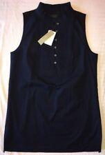 J Crew 4 Tall Popover Tuxedo Top $78 NWT b2424 Navy Blue Black NEW