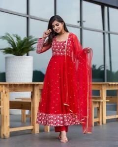 Indian Flared Kurta Kurti Bollywood Style Anarkali Gown PartyWear Dress Top Suit
