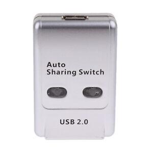 ABS 2Port USB2.0 Type-b Printer Switch Hub Switcher Sharing Box for Computer