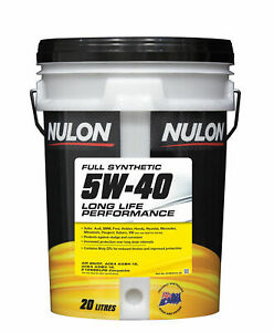 Nulon Full Synthetic Long Life Engine Oil 5W-40 20L SYN5W40-20 fits SsangYong...