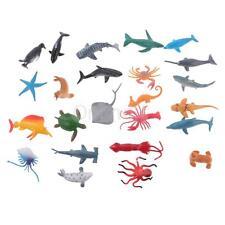 24 Mini juguete de PVC de juguete Figuras de animales marinos Playset Niños