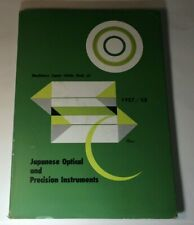 1957-58 Machinery Japan Guide Book of Japanese Optical and Precision Instruments