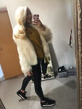 Topshop Cream Coat Faux Fur Outerwear Used 8 Luxury