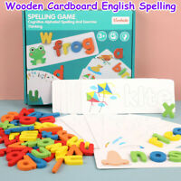 Wooden Cardboard English Spelling Alphabet Game Early Education Educational Toy