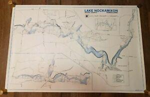 Vintage 1984 Lake Nockamixon Bucks County, Pennsylvania Roger Bennett Map