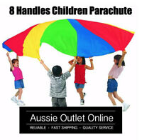 190cm Quality Kids Play Parachute Toy - Multi-Coloured - Aussie Outlet Online Z