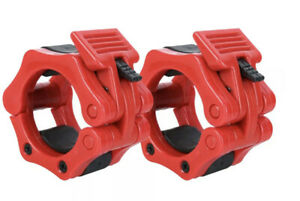 Pair 2'' Olympic Spinlock Collars Barbell Dumbell Clips Clamp Weight Bar Lock