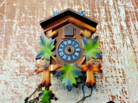 Vintage Cuckoo Clock Made in West Germany Regula Movement A 25-82