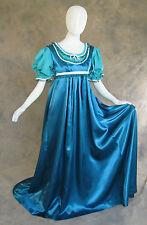 Blue Green Regency Jane Austen Style 2 Pce Teal Ball Gown Costume Medium Cosplay