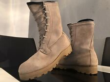 COMBAT Retro US ARMY VIBRAM 360 BROWN Leder Schuhe BOOTS Classic BEIGE Gr. 44