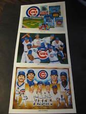 3 UNOCAL 76 CUBS PHOTO Pitchers Infielder Wrigley Paper Souvenir Baseball MLB NL