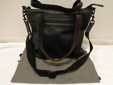 ALL SAINTS Mercer Black 100% leather tote with detachable strap w/ dustbag