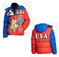 RARE Polo Ralph Lauren Downhill USA Stadium Retro Ski Down Puffer Parka Jacket