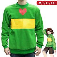 Undertale Chara Green Hoodie Round Neck Sweater Women/MenCosplay Costume Jumper
