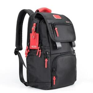 TUMI ALPHA 3 CARRY ON FLAP BACKPACK 2603174D3 BLACK/Red