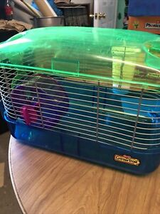 Hamster cage, Kaytee CritterTrail Habitat. Assembled. With wheel