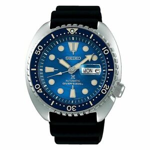 NEW Seiko SRPE07 King Turtle Blue Ceramic Bezel Automatic Watch 200 Meter USA