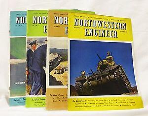 vintage Northwestern engineer magazine technological institute 1943,1944,1946