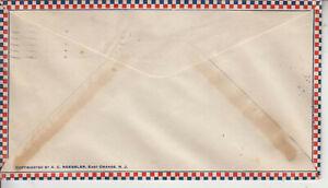 ROESSLER 1ST FLT FAM 33 EL CENTRO,CA. JUN 15 1932 ULTRA BORDER AND BOXED CACHET