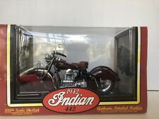 Tootsie Toy 1942 442 Indian Motorcycle 1:10 Scale Authentic Die-cast Replica