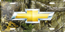 Chevrolet Logo RealTree Camo Camouflage Novelty License Plate Tag for Car Front