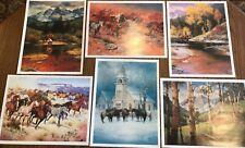 Set of 6 Western Prints by Jack Sorenson, 12X16, new, cowboys & horses, Open Ed.