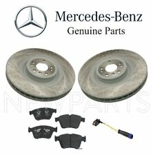 For Mercedes W164 Front Drilled Disc Brake Rotors w/ Pads & Sensor Genuine