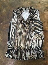 Quintessential Animal Print Sleeveless Blouse, M