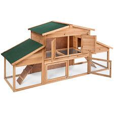 XXL Conigliera gabbia per conigli stalla per piccoli animali ruota libera legno