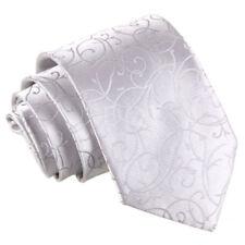 Cravate métalliques en polyester pour homme