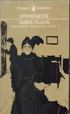AUGUST STRINDBERG - Three Plays - The Father - Miss Julia - Easter P/B