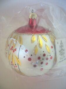 "Radko 1989 ""CARMEN MIRANDA"" ~Vintage~ Red & Gold Ornament NEWw/Tag STILL SEALED"
